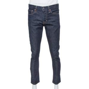 Tom Ford Navy Blue Denim Slim Selvage Jeans M