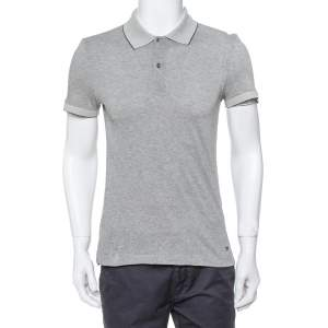 Tom Ford Monochrome Cashmere Blend Pique Knit Polo T Shirt M