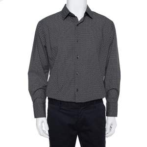 Tom Ford Monochrome Cotton Button Front Shirt 3XL