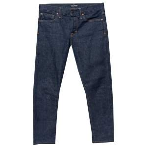 Tom Ford Navy Blue Denim Slim Fit Jeans M