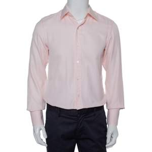 Tom Ford Pink Patterned Cotton Button Front Shirt M