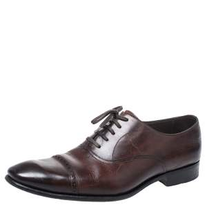 Tom Ford Brown Leather Charles Oxfords Size 44.5
