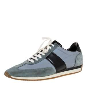 Tom Ford Tricolor Canvas And Suede Orford Sneakers Size 45