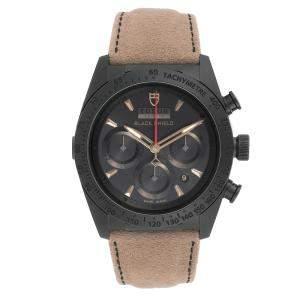 Tudor Black Ceramic Fastrider Alcantara 42000CN Men's Wristwatch 42 MM