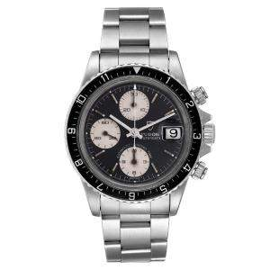Tudor Black Stainless Steel Oysterdate Vintage Chronograph 79170 Men's Wristwatch 40 MM