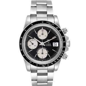 Tudor Black Stainless Steel Big Block Vintage 79160 Men's Wristwatch 40 MM