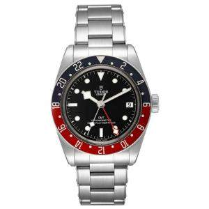 Tudor Black Stainless Steel Heritage Bay GMT Pepsi 79830RB Men's Wristwatch 41 MM
