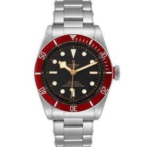 Tudor Black Stainless Steel Heritage Black Bay 79230R Men's Wristwatch 41 MM