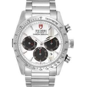Tudor White Stainless Steel Fastrider Chronograph 42000 Men's Wristwatch