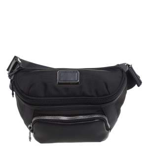 Tumi Black Nylon and Leather Columbus Utility Belt Pouch