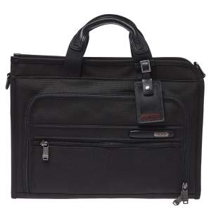 Tumi Black Nylon DFO Slim Deluxe Portfolio Bag