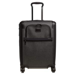 Tumi Grey/Brown PVC Alpha 2 Continental Expandable 4 Wheel Carry On Luggage