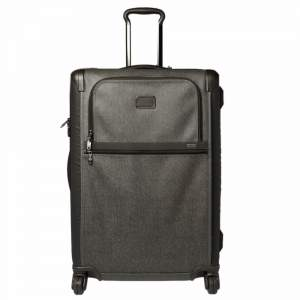 TUMI Grey/Brown PVC Alpha 2 Medium Trip Expandable 4 Wheel Packing Case Luggage