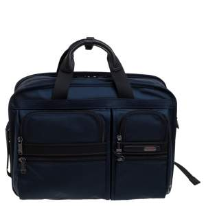 Tumi Blue/Black Nylon Three Way Briefcase Bag