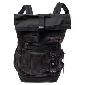 حقيبة ظهر علوية تى يو أم أى بريش رول نايلون سوداء / كاكى