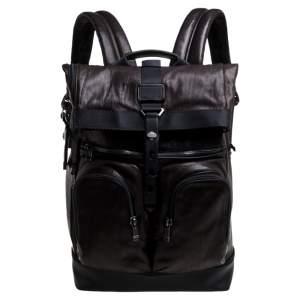 حقيبة ظهر علوية تى يو أم أى ألفا برافو لندن رول جلد برونزية ميتالك / سوداء