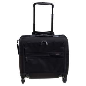 TUMI Black Nylon Gen 4.2 4 Wheeled Compact Carry On Luggage