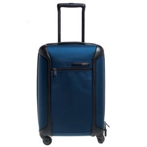 TUMI Blue/Black Nylon Gen 4.2 Lightweight International Carryon Luggage
