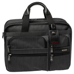TUMI Grey Nylon Gen 4.2 Expandable Organizer Laptop Briefcase