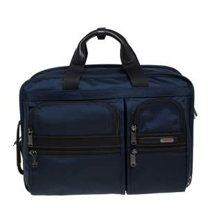 TUMI Navy Blue Nylon Gen 4.2 Three Way Briefcase