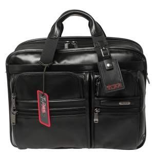 حقيبة مستندات للابتوب تومي جين 4.2 تي-باس قابلة للتمدد جلد أسود