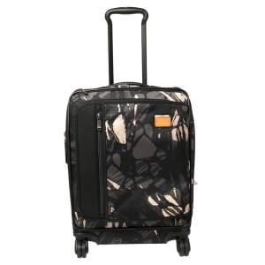 حقيبة سفر تومي ميرغ كونتينينتال قابلة للتمدد قابلة للحمل نايلون مطبوع هايلاندز أسود