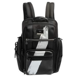 TUMI Black/Silver Nylon Alpha Bravo Sheppard Deluxe Backpack