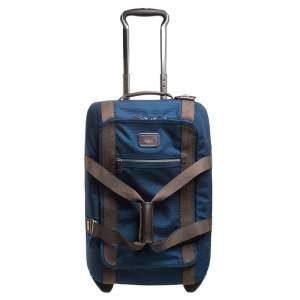 TUMI Blue Nylon Alpha Bravo 2 Wheel Carry On Luggage 55