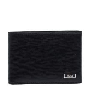 Tumi Black Leather Slim Bifold Wallet