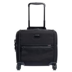 TUMI Black Nylon Alpha 9 Compact 4 Wheel Case