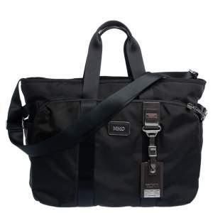 TUMI Black Nylon Alpha Bravo Hansen Briefcase