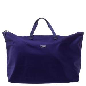TUMI Purple Nylon Shopper Tote