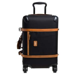 TUMI Black/Brown Nylon and Leather Trim Limited Edition 38/1975 40th Anniversary Collection Luggage