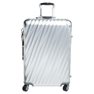 TUMI Silver Aluminum 4 Wheel Short Trip Packing Case 19 Degrees Luggage 65