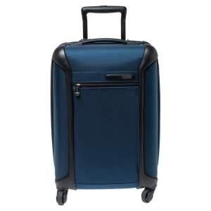 TUMI Blue/Black Nylon Lightweight International Carry On Luggage