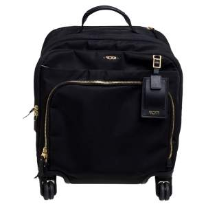TUMI Black Nylon Oslo Compact Carry On Luggage
