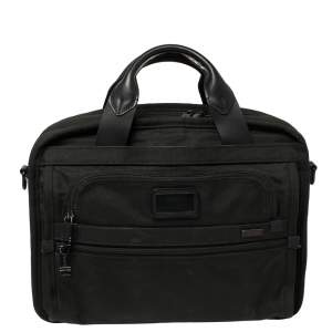 TUMI Black Nylon Alpha T-Pass Expandable Laptop Bag