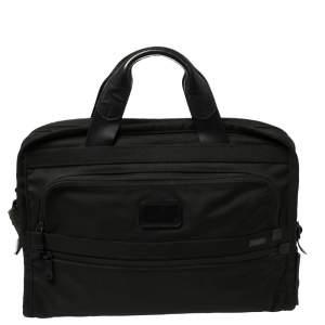 Tumi Black Nylon Alpha Slim Portfolio Laptop Bag