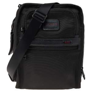 TUMI Black Nylon Alpha 2 Messenger Bag