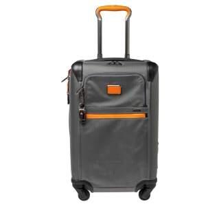 Tumi Grey/orange Nylon Alpha 2 Expandable Wheeled Luggage