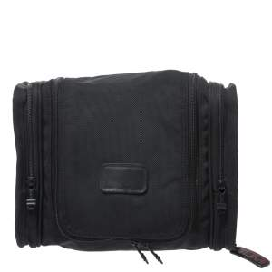 Tumi Black Nylon Alpha II Hanging Travel Clutch