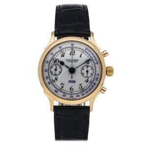 Ulysse Nardin White 18K Yellow Gold 1928 Chronograph Limited Edition 556-22 Men's Wristwatch 34 MM