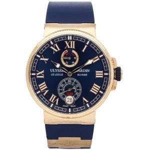 Ulysse Nardin Blue 18k Rose Gold  Marine Chronometer 1186-126-3/43 Men's Wristwatch 43 MM