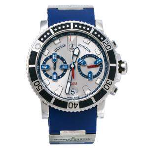 Ulysse Nardin Silver Stainless Steel Marine Diver 8003-102 Men's Wristwatch 42.7mm
