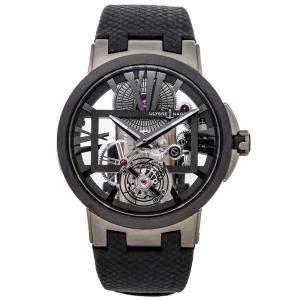 Ulysse Nardin Gray Titanium Executive Skeleton Tourbillon 1713-139 Men's Wristwatch 45 MM