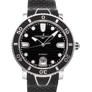 Ulysse Nardin Black Stainless Steel Marine Diver 8103-101-3/02 Men's Wristwatch 40 MM