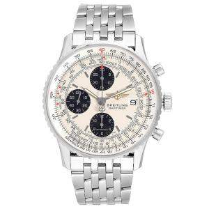 Breitling White/Black Stainless Steel Navitimer A13324 Men's Wristwatch 42 MM