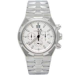 Vacheron Constantin Silver Overseas Chronograph Stainless Steel Men's Watch 42MM