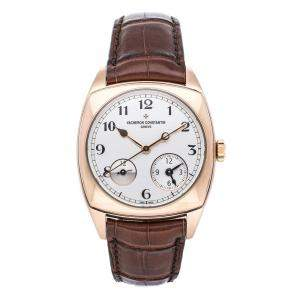 Vacheron Constantin Silver 18K Rose Gold Harmony Dual Time 7810S/000G-B050 Men's Wristwatch 37 MM