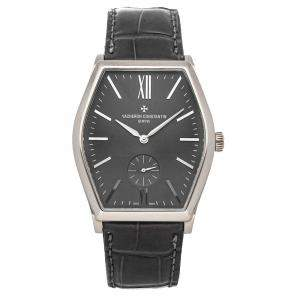 Vacheron Constantin Black 18K White Gold Malte 82230/000G-9185 Men's Wristwatch 42 x 36 MM